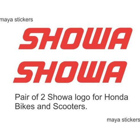 Honda Unicorn Sticker Online Shopping by Showa Logo Decal For Honda Bikes And Scooters Buy Online India