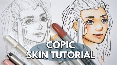 how to colour skin faces with copic markers tutorial