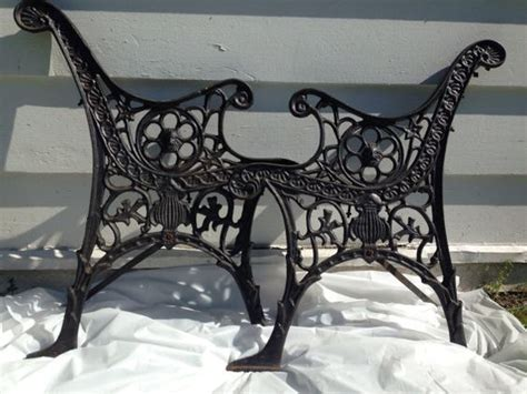 antique cast iron bench ends antique cast iron bench legs ornate black bench ends pair