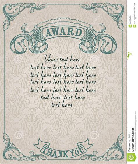 vintage certificate template vintage award