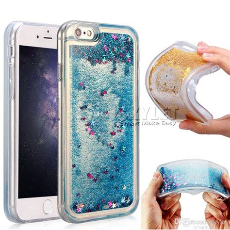 Water Gliter For Xiomi Note 4 for iphone x water glitter cases gel for samsung note 8 s8 3d liquid soft