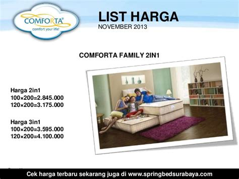 Bed Comforta Family harga comforta bed