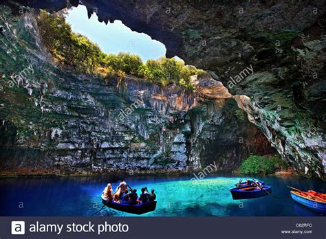 pa caverns boat ride boat ride in quot cave lake quot of melissani in kefalonia island
