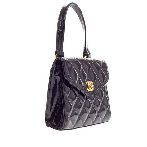 Chanel Quilted Bags by Chanel Vintage Box Flap Bag Quilted Patent Small At 1stdibs