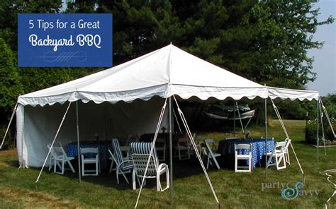 Backyard Bbq Rentals 5 Tips For A Great Backyard Bbq Partysavvy Event Rentals