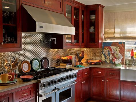 red painted kitchen cabinets paint colors for small kitchens pictures ideas from