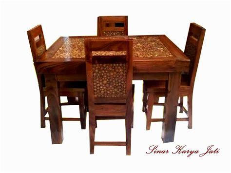 Meja Makan Jati Koin meja kursi makan koin produk terbaru furniture jepara sinar kencana jati