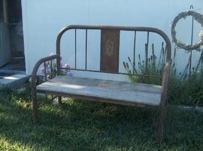 metal bed bench bench made from old metal bed frame good ideas pinterest