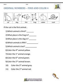 ordinal numbers worksheet for grade 1 boxfirepress