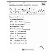 Ordinal Numbers  Find And Color 4
