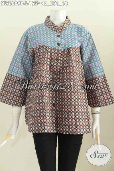 Blus Wanita Terbaru Tanah Abang Blus Wanita Terbaru Putih blus batik keren buatan baju batik kerah shanghai nagit untuk seragam kerja pakaian batik