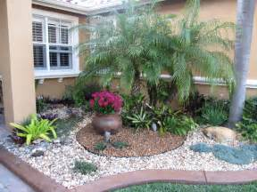 Front Yard Rock Garden Front Yard Landscaping Tropical Ideas Home Decorating Ideas