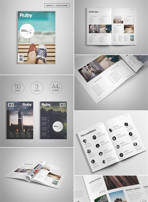 20 Magazine Templates With Creative Print Layout Designs Creative Graphic Design Layout Templates
