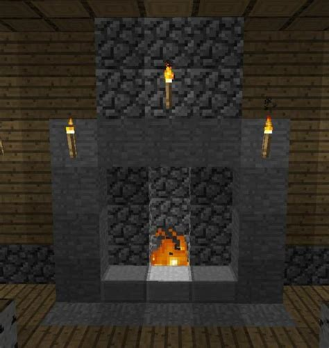 How To Build A Fireplace Minecraft by Build A Brick Fireplace With Chimney In Minecraft Prime