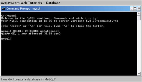 xp tutorial creating a database how do i create a database in mysql web tutorials