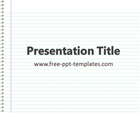 Notebook Ppt Template Free Powerpoint Templates Notebook Paper Powerpoint Template
