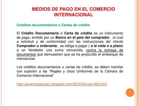 medios de pago en el comercio internacional pagos en el comercio internacional