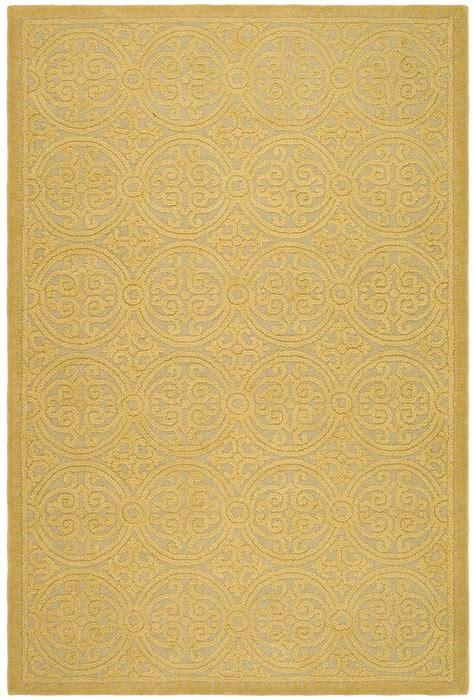 gold rugs contemporary safavieh cambridge light gold gold wool contemporary area rug cam233a ebay