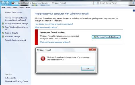 service tool v3400 not responding cant turn on update windows firewall error 0x8007042c