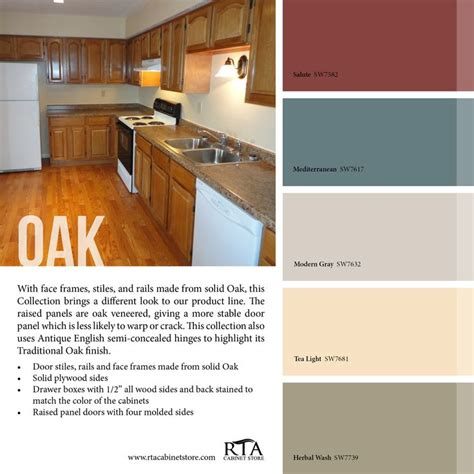 color palette to go with our oak kitchen cabinet line color palettes paint