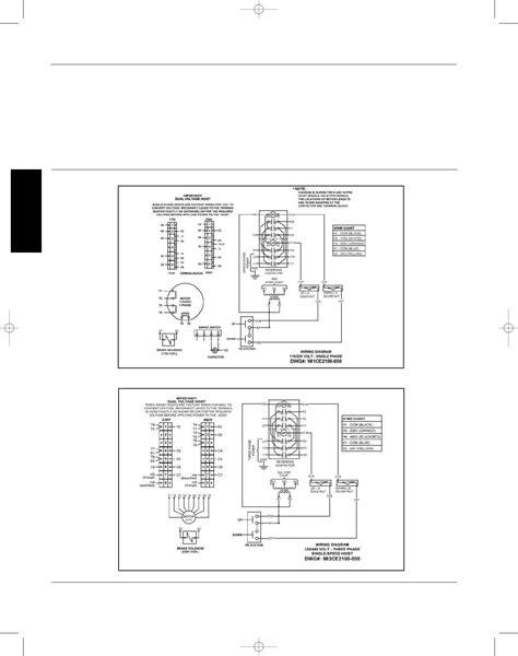 dayton electric cable hoist wiring diagram dayton air
