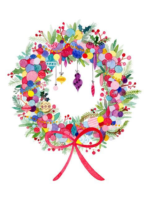card wallpapers free christmas garland clip art free download greeting cards felicity french illustration