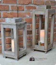 rustic lantern decor rustic wood lanterns