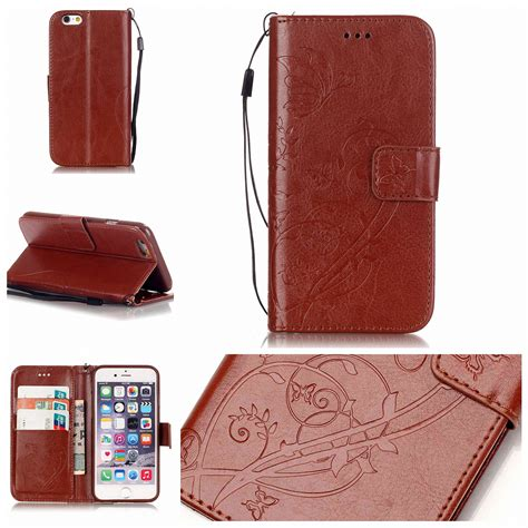 Flip Cover Wallet Iphone 7 retro flower pattern flip leather wallet stand cover for iphone 7 7 plus 6 ebay
