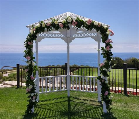 wedding arch flowers mentoring high school students
