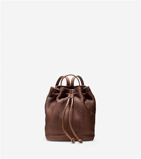 Cole Haan Roll Handbag by Cole Haan Bethany Weave Backpack In Brown Lyst