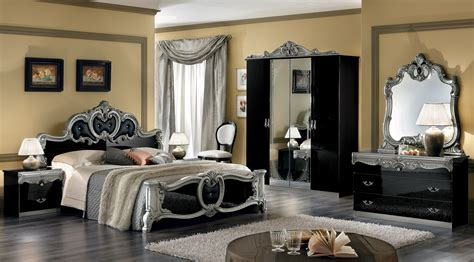 barocco bedroom set barocco black w silver camelgroup italy classic bedrooms