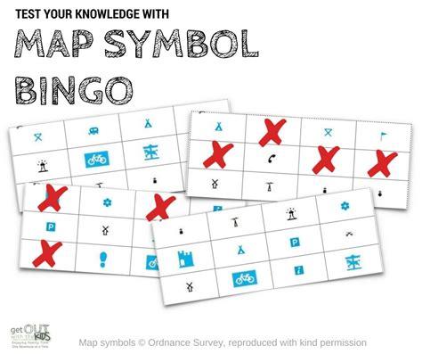 map symbols map symbol bingo free