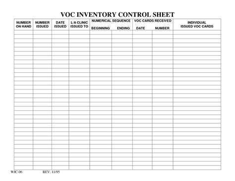simple inventory sheet template and free inventory list