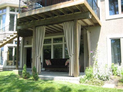 Patio Drapes create a dramatic look to your patio with the outdoor