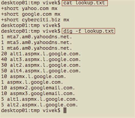 Dig Lookup Linux And Unix Dig Command Exles Nixcraft