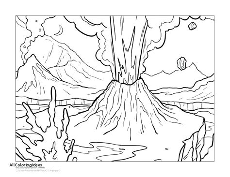 V Is For Volcano Coloring Page by V Is For Volcano Coloring Page Volcano Coloring Free