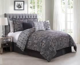 purple and grey comforter sets 7 minka gray purple reversible comforter set