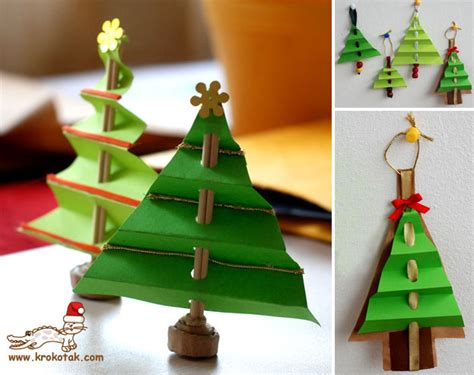 how to make accordion christmas tree diy crafts
