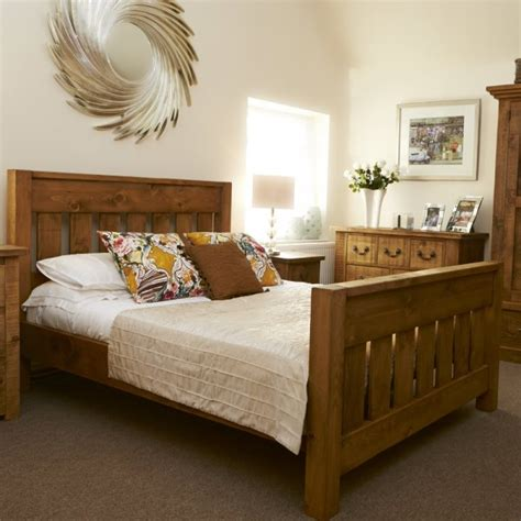 Chunky Bedroom Furniture Buy Rustic Chunky Plank Bed Bespoke Wood Bedroom Furniture Uk Made