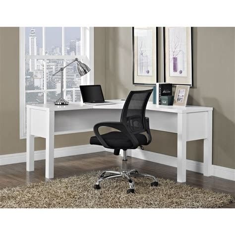 Overstock L Shaped Desk Princeton White L Desk