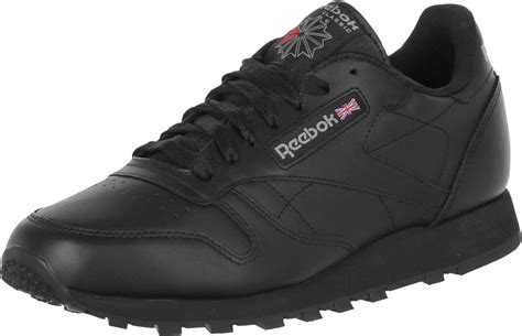 reebok classic leather shoes black