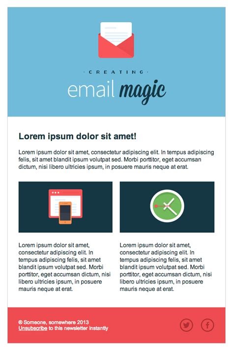 Build An Html Email Template From Scratch Email Templates For Web Designers And Developers