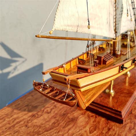 sailboat model kit scale 1 96 laser cut wooden sailboat model kit the harvey