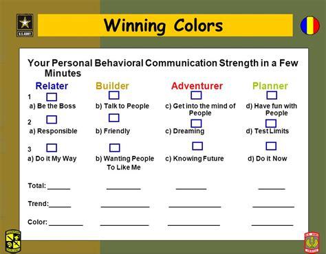 winning colors winning colors jrotc success profiler the conover company