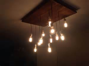 Diy Edison Bulb Chandelier Diy Rustic Chandelier With Edison Light Bulbs