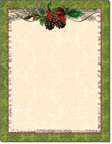 images of christmas letterhead pinecone holiday stationery garland christmas letterhead