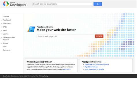 google design tool google pagespeed insights best web design tools