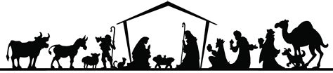nativity silhouette clip free 66403891 traditional christian nativity of