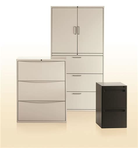 Lateral File Cabinet With Storage Activestor Lateral File Cabinets Spacesaver Corporation