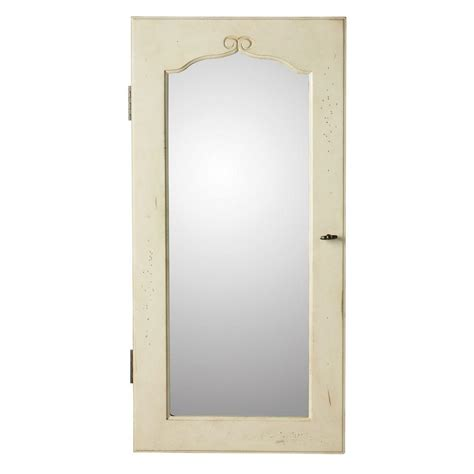 wall mount mirror jewelry armoire home decorators collection provence wall mount jewelry
